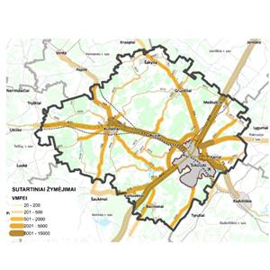 Šiaulių rajono savivaldybės bendrojo plano keitimo susisiekimo dalis